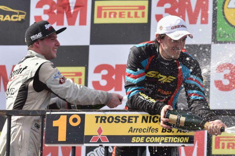 Nicolás Trosset festejó en una de las carreras de Alta Gracia