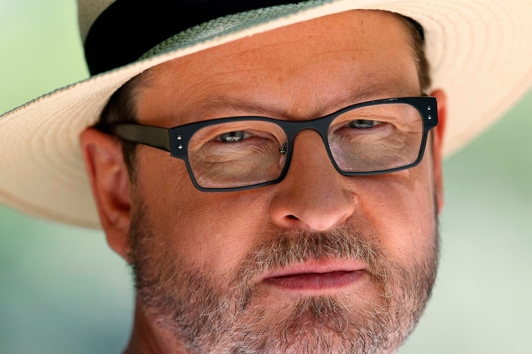 En la foto se puede ver a Lars en Cannes en 2011, último año en que había sido parte del Festival