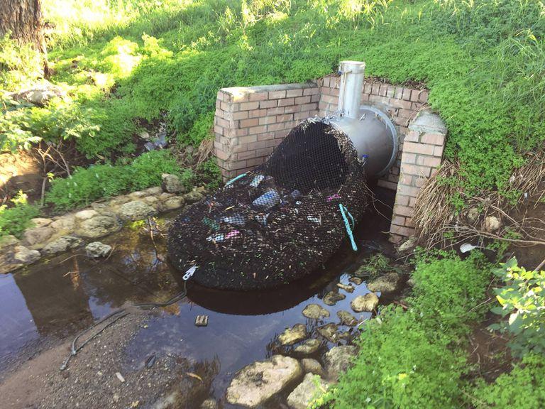 Una red de contención de basura implementada en Australia