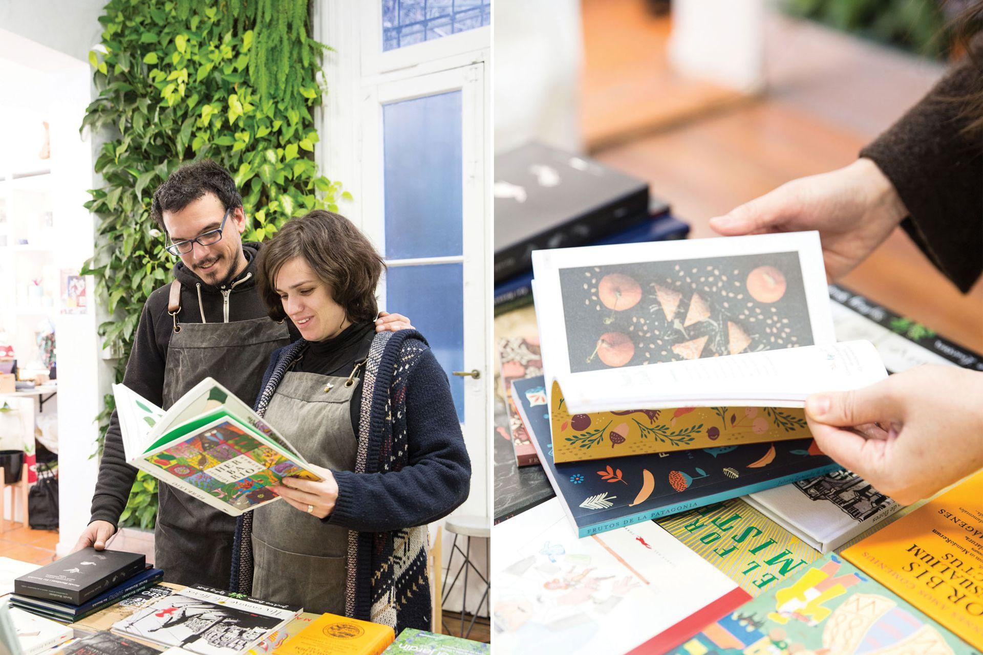 Los libros de Huella Botánica son el diferencial de este local de Palermo.
