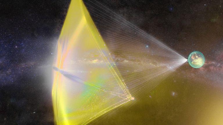 Idean un sistema de naves propulsadas por cien millones de rayos láser