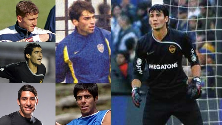 Muñoz, Ayala, Caballero, García, D´Angelo y Eberto: apenas 80 partidos en 40 años para los arqueros de la cantera xeneize