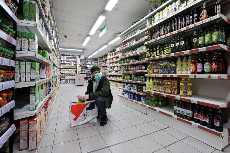 Supermercado en Niza, Francia