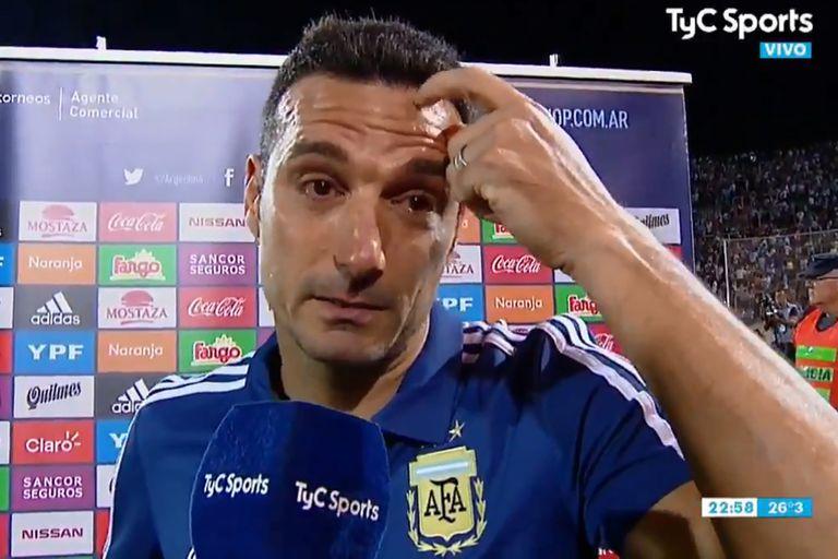 El motivo de las lágrimas de Scaloni tras el triunfo de la selección ante México