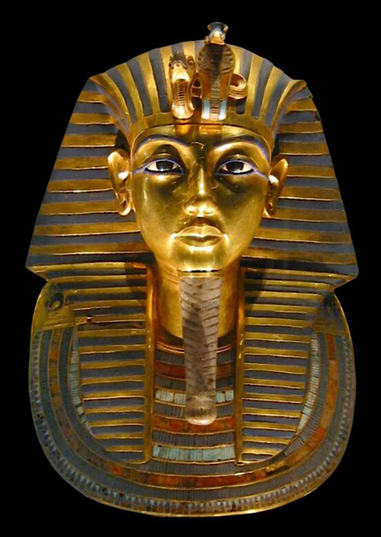 Máscara funeraria de Tutankamón (Creative Commons)