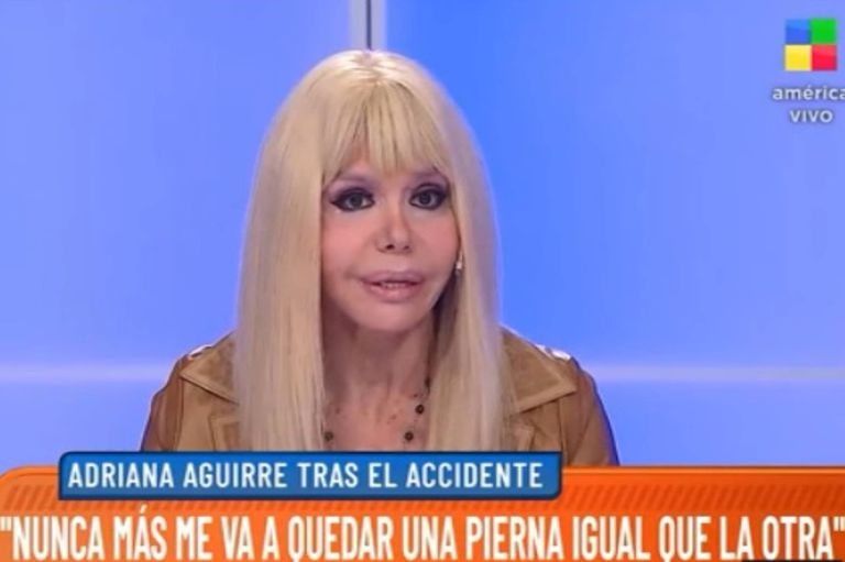 """El duro momento de Adriana Aguirre: """"No puedo volver a bailar"""""""