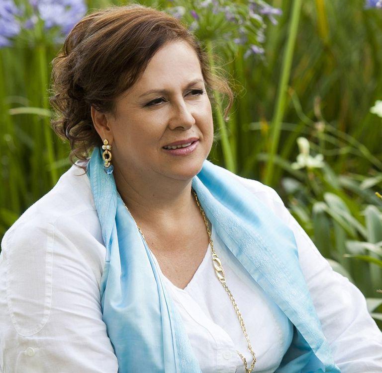 Isabel Santos, viuda del jefe del cartel de Medellín