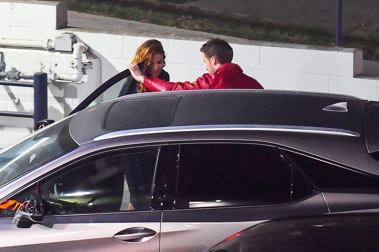 Ryan Gosling y Eva Mendes, esta semana, a la salida de un establecimiento de California, donde cenaron sushi