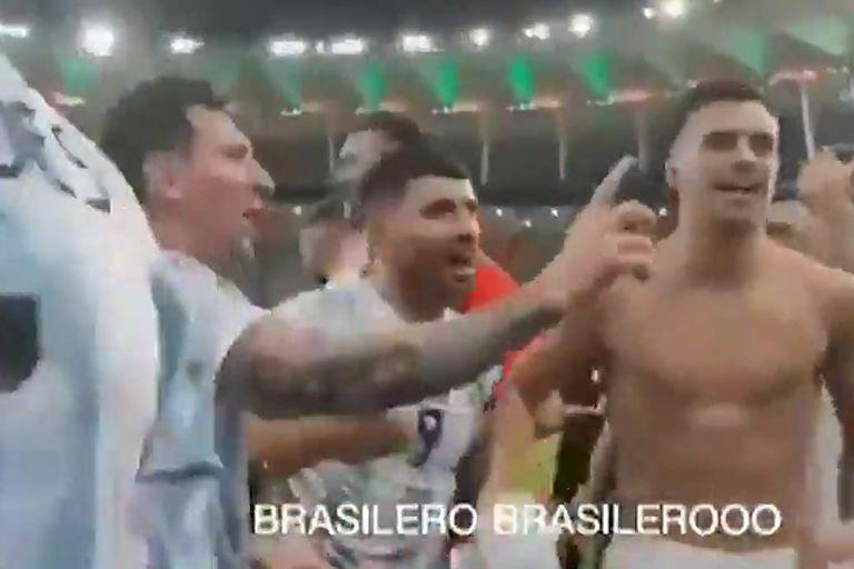 El momento en el que Messi detiene los cantos agresivos contra Brasil