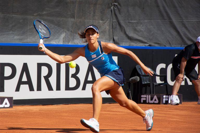 Lourdes Carlés, la encargada del segundo punto de Argentina en la primera jornada de la serie