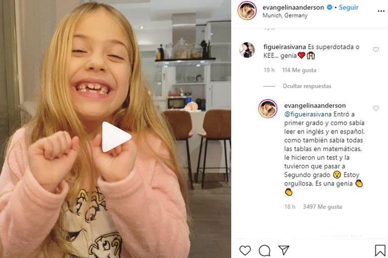 La respuesta de Evangelina Anderson ante la consulta de cómo logró aprender otro idioma tan rápido su hija Lola