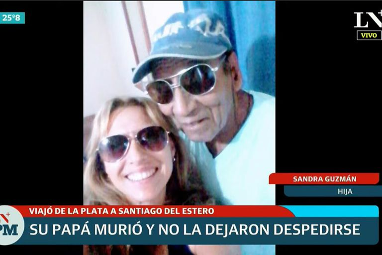 Viajó desde La Plata a Santiago del Estero y no pudo despedir a su padre