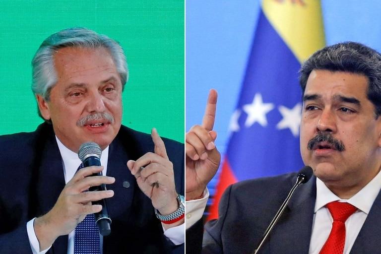 Alberto Fernández y Nicolás Maduro