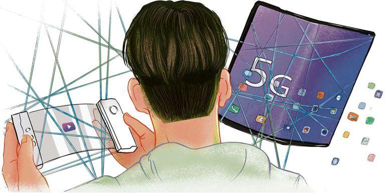 Las marcas de celulares apuestan a los teléfonos plegables y el 5G
