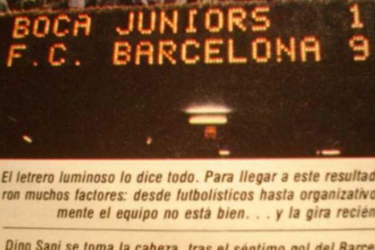Barcelona 9 -Boca 1: la historia detrás de la peor derrota xeneize en su vida
