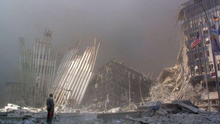 Las torres quedaron reducidas a escombros.