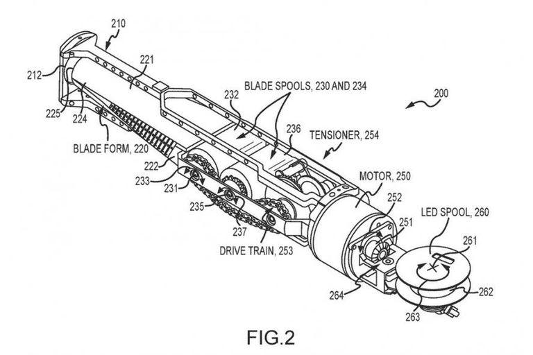 La patente que sugiere que Disney encontró cómo construir un sable retráctil que se ilumina como si fuera un láser