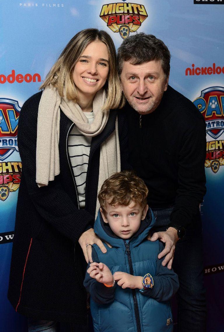 Diego Korol no quiso faltar a la cita junto a su familia