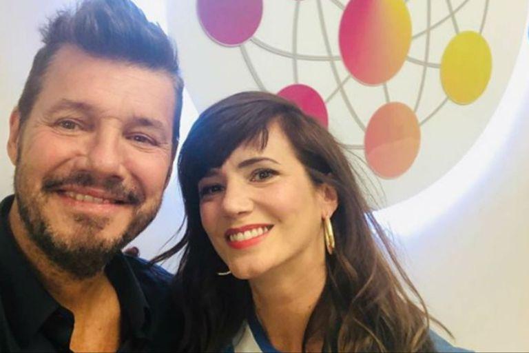 Marcelo Tinelli le dio la bienvenida a la actriz al Súper Bailando