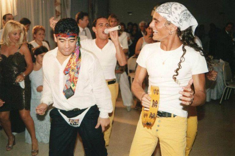 Roberto Edgar y Diego Maradona