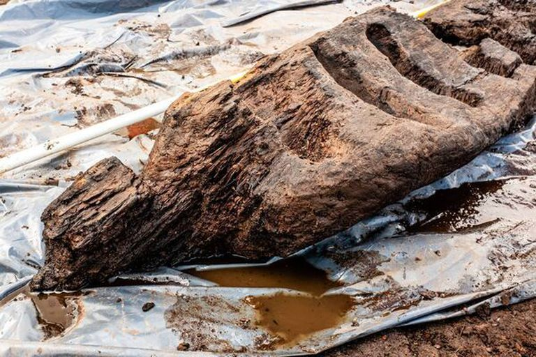 Un grupo de arqueólogos desenterró un ídolo pagano de madera de 1.600 años de antigüedad que se encontraba debajo de un pantano en el condado de Roscommon, en el centro de Irlanda