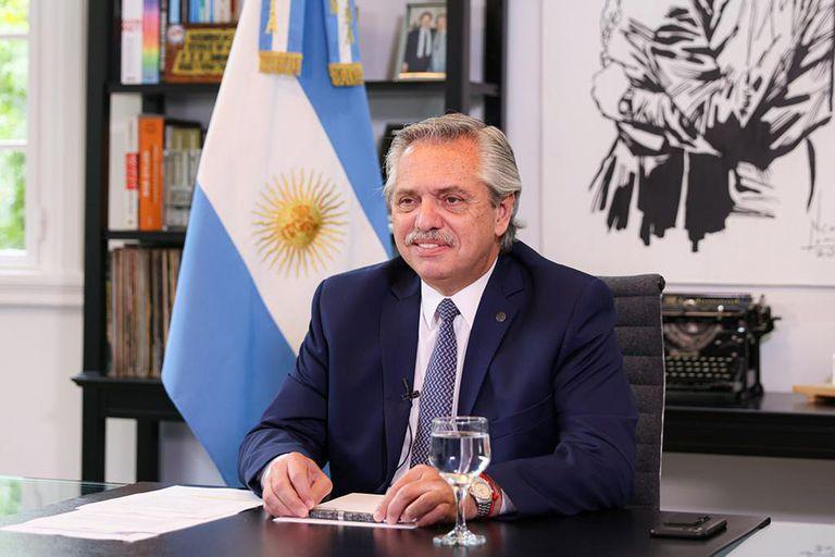 El presidente Alberto Fernández habló hoy en el Foro de Davos