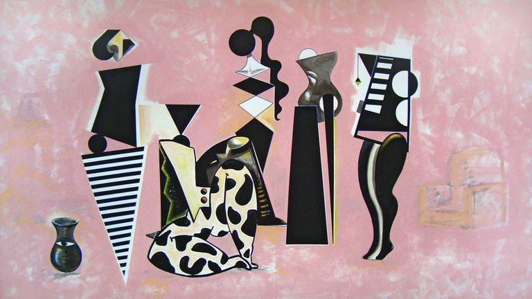 El nuevo milenio. Adriana Minoliti es una de las jóvenes artistas que llevan la pintura a un nivel tridimensional; su labor fue premiada en arteBA 2013