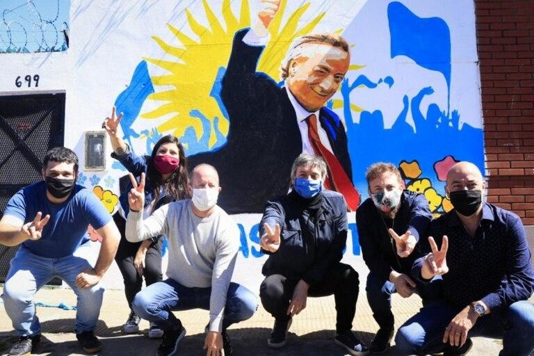 Daniela Vilar, Martín Insaurralde, Máximo Kirchner y Federico Otermin
