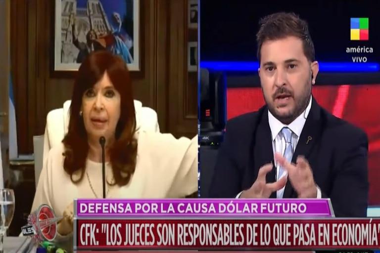"""Brancatelli afirmó que """"Cristina mandó a llorar a todos los jueces"""". Fuente: América"""