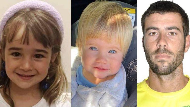 Olivia, Anna y Tomás Gimeno desaparecieron el 27 de abril en Tenerife, España.