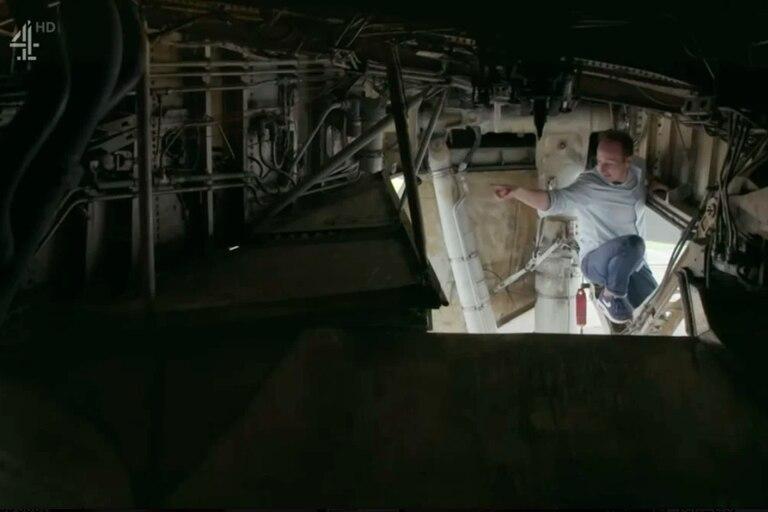 El conductor del documental subió a un compartimento similar al que viajaron Cabeka y Vale en 2015