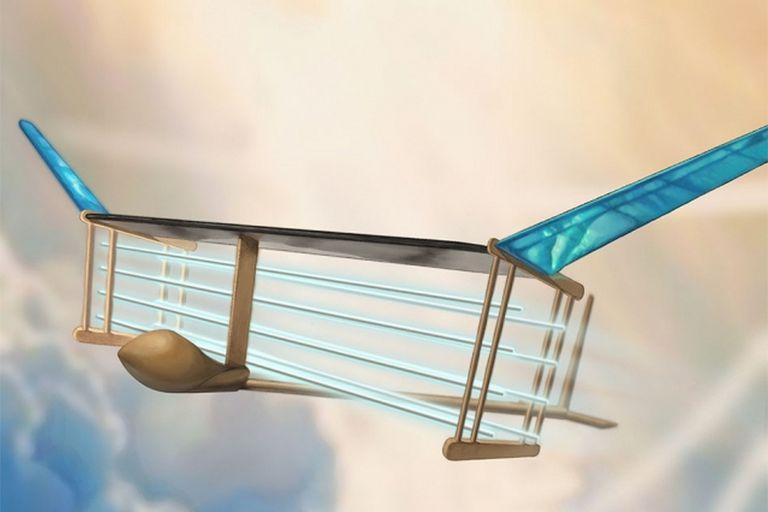 Una representación del modelo de vehículo aéreo eléctrico que no utiliza partes móviles desarrollado por el Instituto de Tecnología de Massachusetts