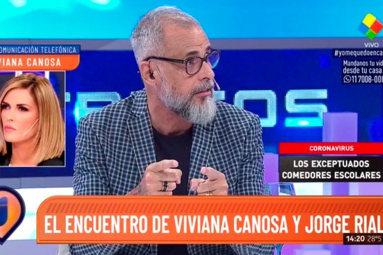 Impensado: en medio de la cuarentena obligatoria, Jorge Rial dialogó en Intrusos con Viviana Canosa