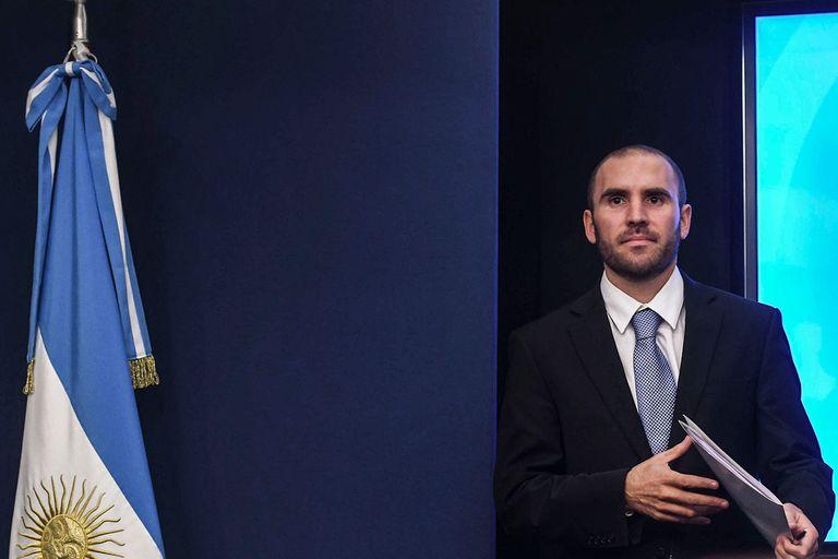 Martín Guzmán en su primera conferencia como ministro de Economía