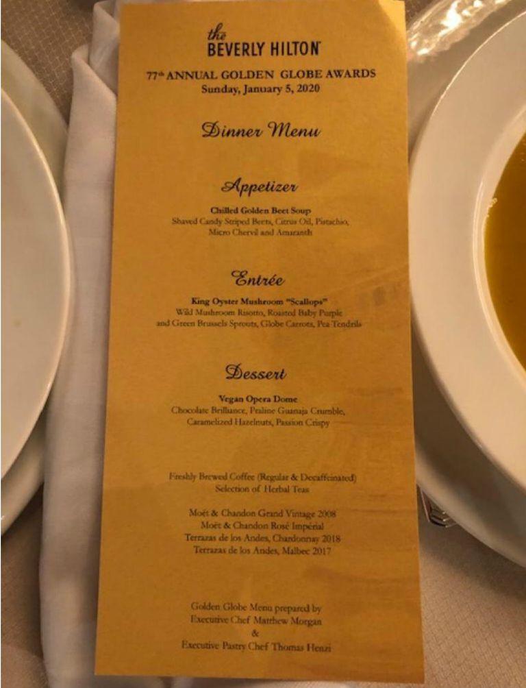 El menú, que tuvo la particularidad de ser vegano, incluyó dos vinos mendocinos