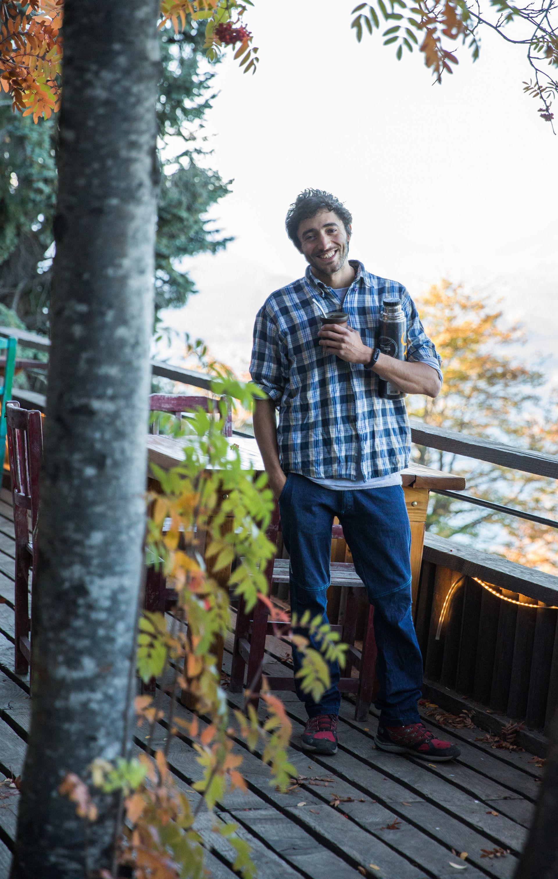 Luca Fidani en el Refugio Berghof