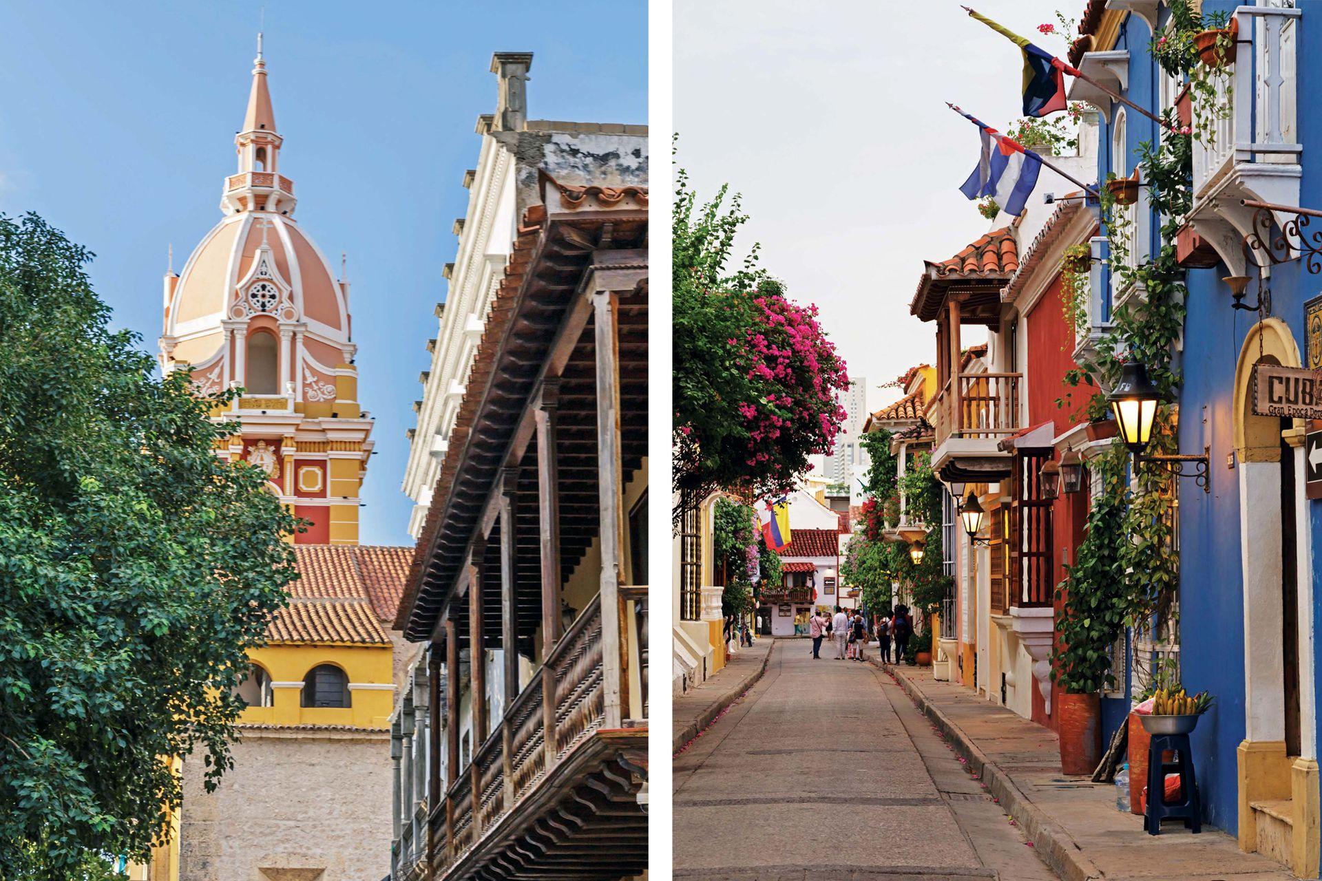A la izquierda, la cúpula de la catedral de Santa Catalina de Alejandría, en medio del centro histórico fantásticamente restaurado.