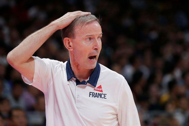 Vincent Collet, entrenador de Francia, durante el partido con Argentina.