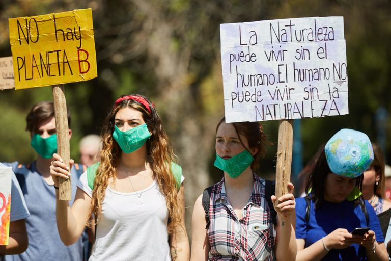 Marcha por el cambio climático en Mendoza