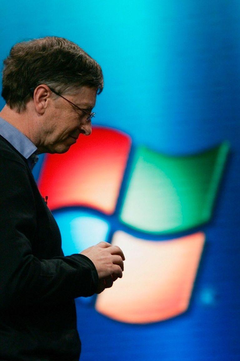 Bill Gates presentó Windows XP en 2001
