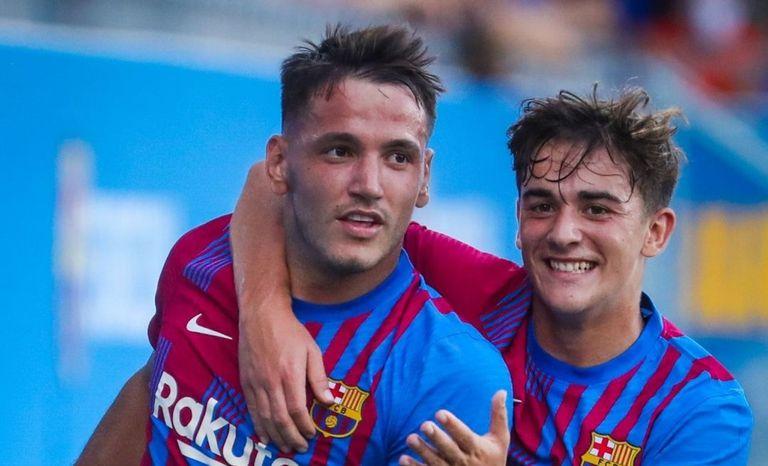 21-07-2021 El Barça arranca la pretemporada con un triplete de Rey Manaj.  Los de Koeman ganan su primer amistoso, con mucho filial, ante un Nàstic con 10 en la segunda parte  DEPORTES FCB