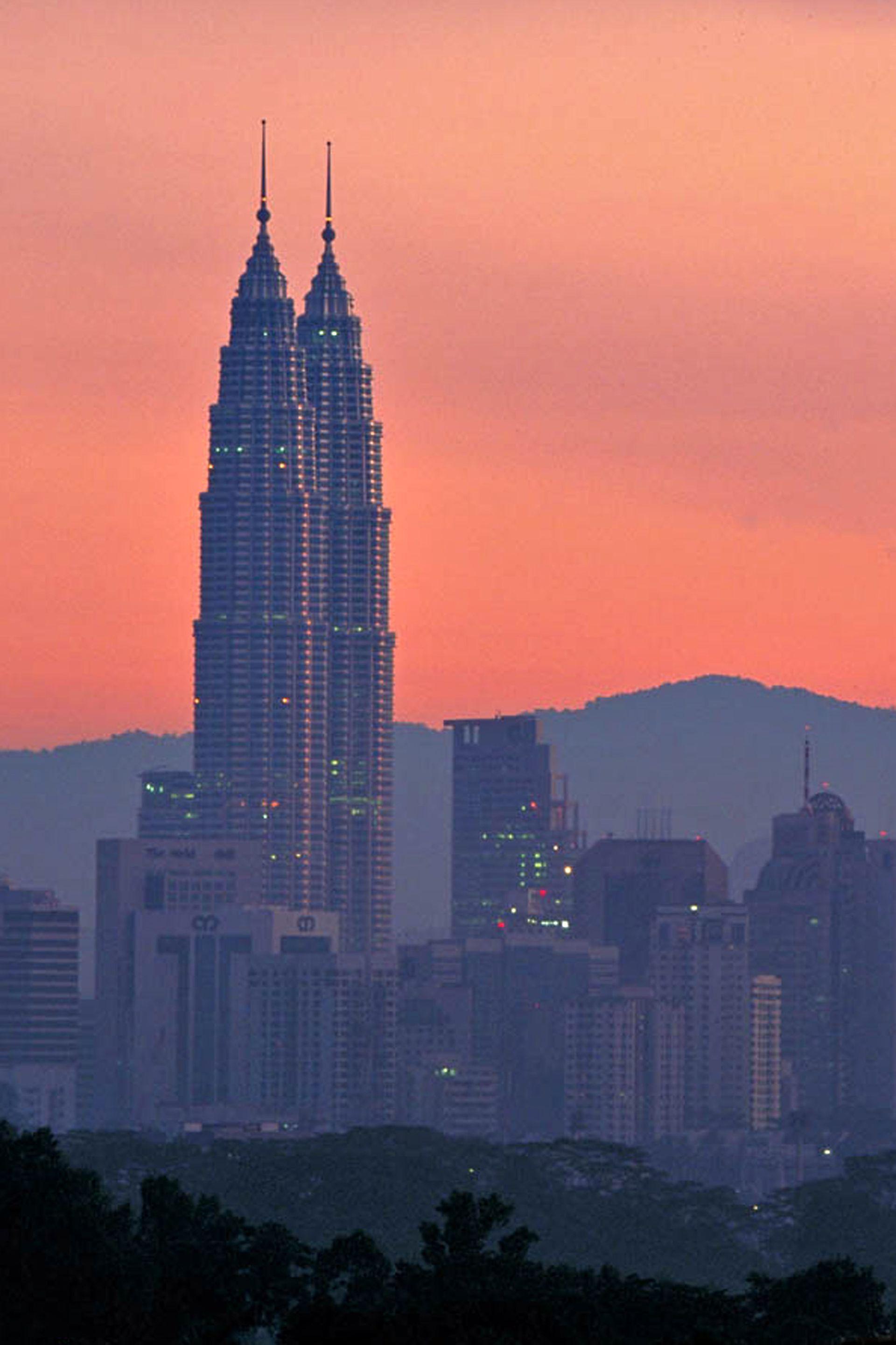 Las torres Petronas en Kuala Lumpur