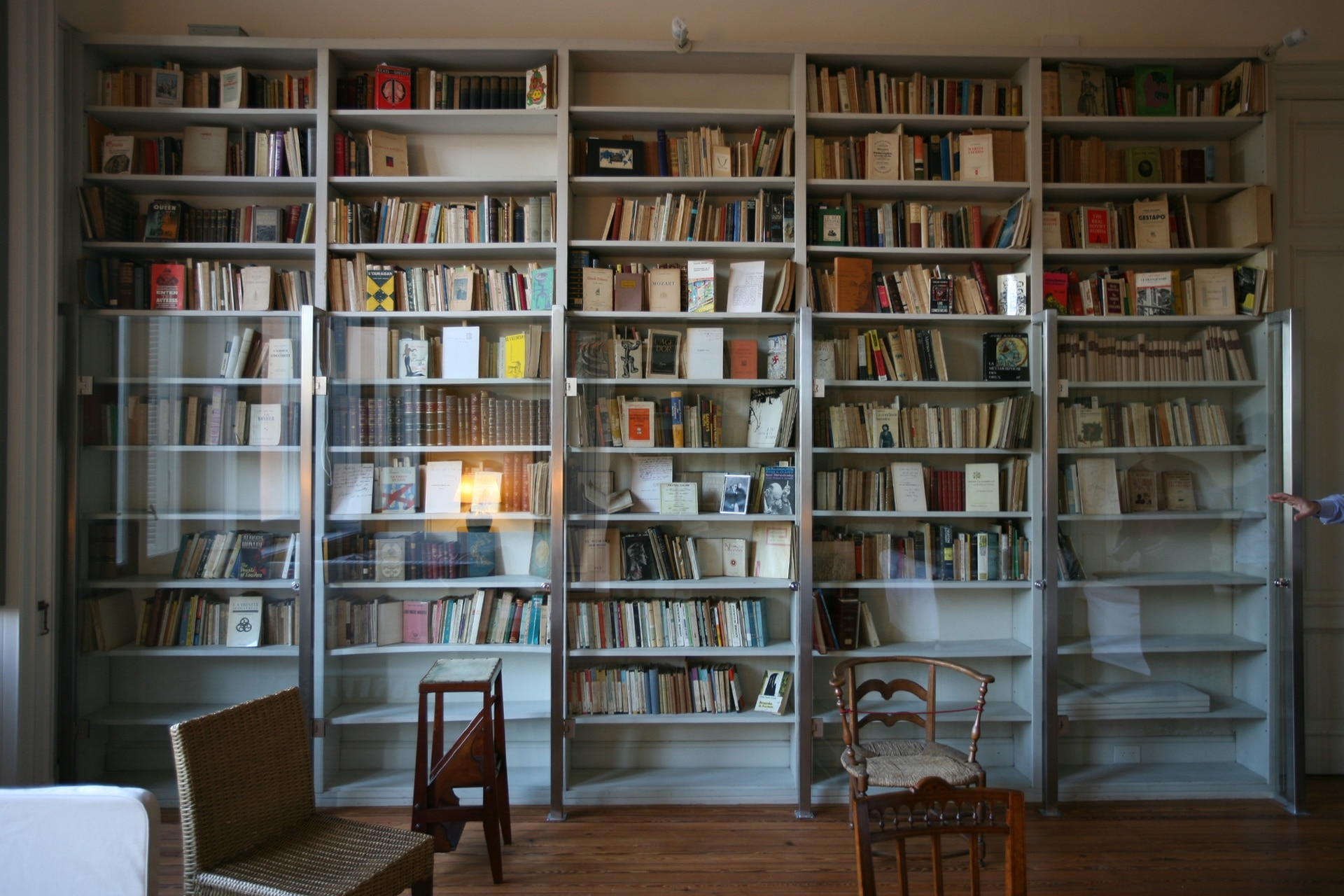 El corazón de la casa, todas sus bibliotecas.