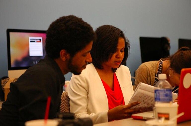 Alumnos hispanos de CUNY School of Journalism