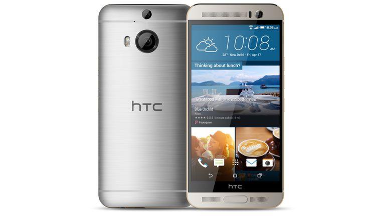 Un HTC One M9+, con la doble cámara trasera (20 megapixeles la principal, 2,1 megapixeles la complementaria)