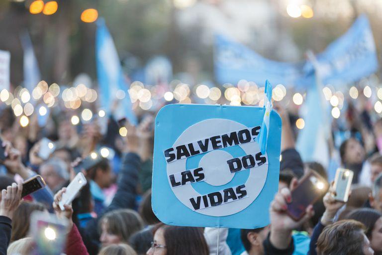 Las marchas en el interior contra el aborto abren la semana clave en Diputados