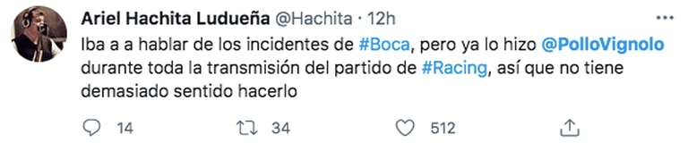 """El reclamo de un hincha partidario del """"Hachita"""" Ludueña"""