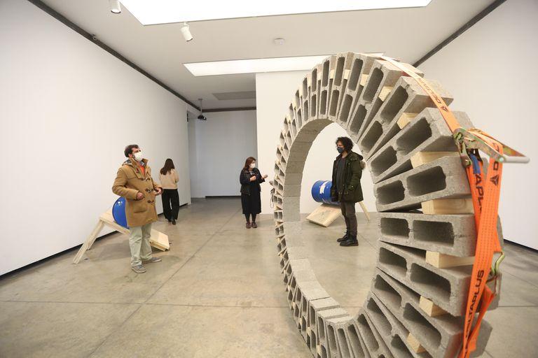 Los bloques de hormigón que componen la Rueda de Vincent Ganivet son Made In Argentina