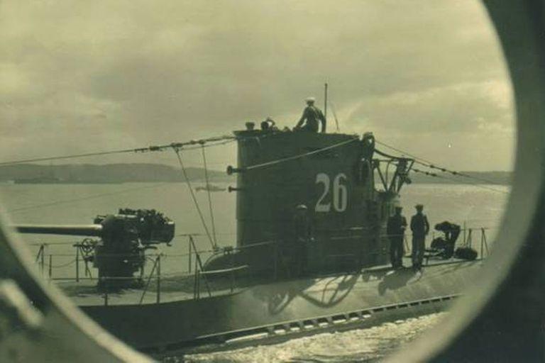 El legendario sumergible U-26 comandando por el argentino Heinz Scheringer