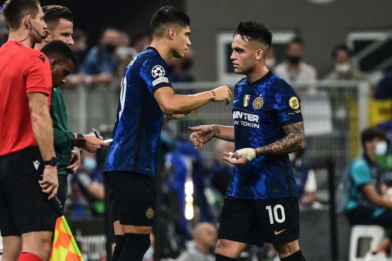 Cosa de argentinos: Joaquín Correa sustituye a Lautaro Martínez en Internazionale.